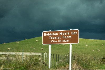 Hobbiton Road Sign, New Zealand - by Racheal Christian - rachealchristianphotography.com