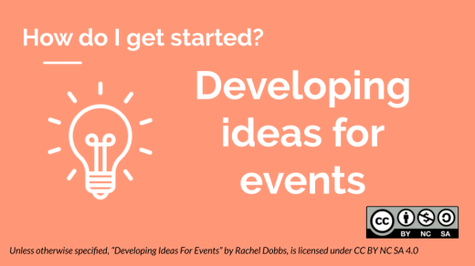 Developing ideas for events banner image