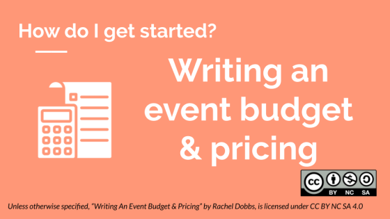 Writing an event budget & pricing banner image