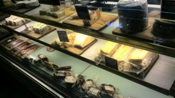 Cheese selection at Wine Depot