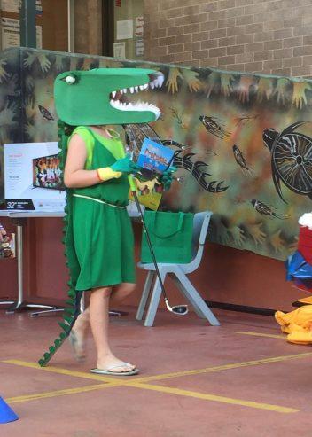 Croco. Book Week. There's a Crocodile on the Golf Course. Rachel Barnett. Author. Illustrator.