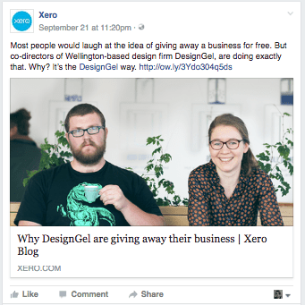 Xero does a great job of keeping to one concept.