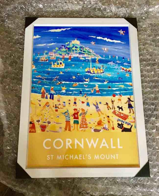 Cornwall art poster - St Michael's Mount