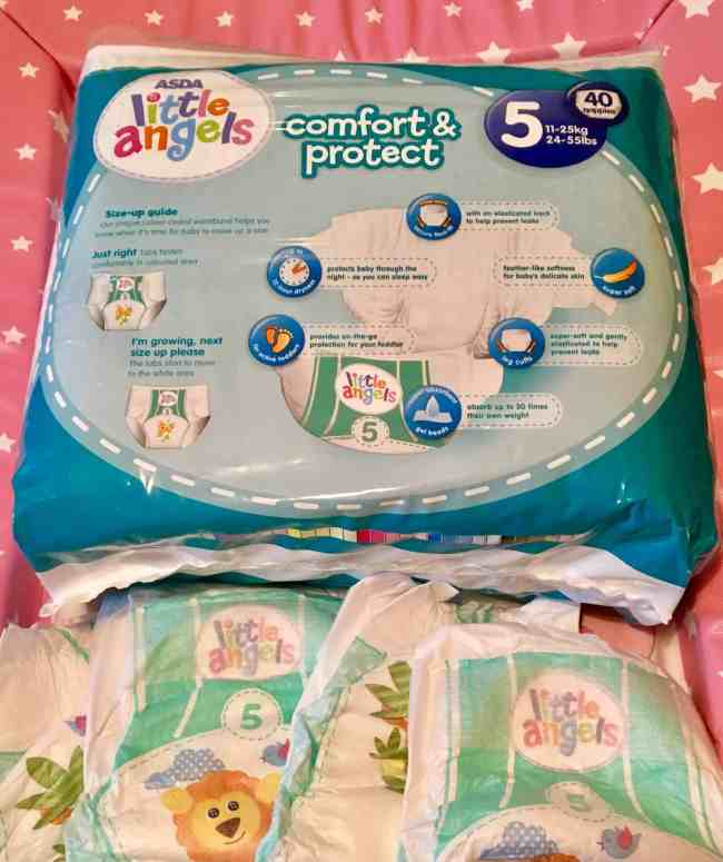 Little Angels Comfort & Protect Nappies Size 5