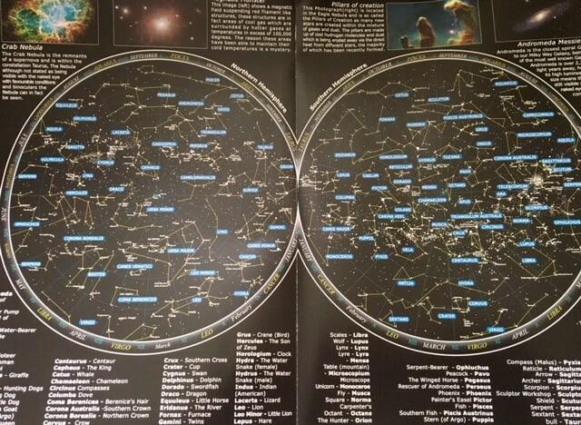 Star constellation map