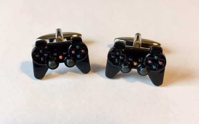 Black Playstation Controller Cuff Links