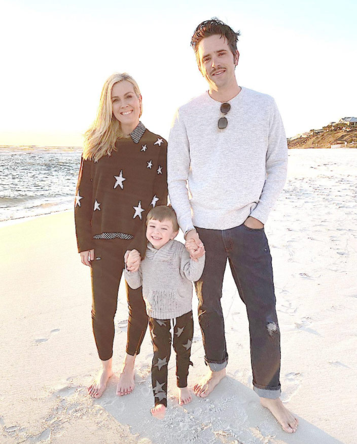 Rachel Cannon with husband Noah Engh and little boy, August