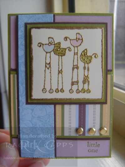 ATC Little One Gold Embossed card