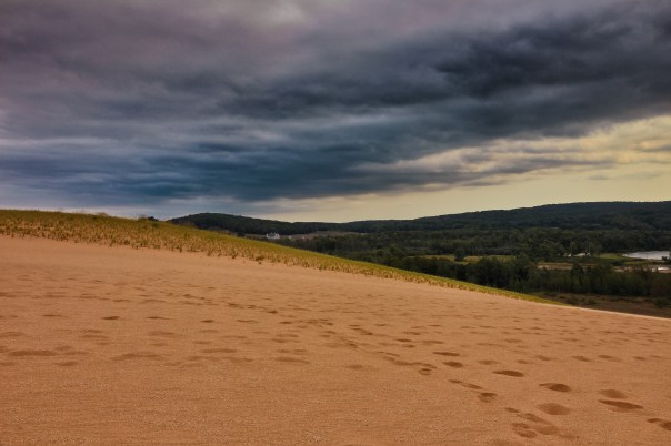 """Walking the dunes of Sleeping Bear"""