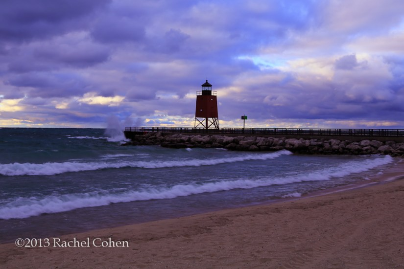 -Charlevoix Lighthouse Sunset- 1