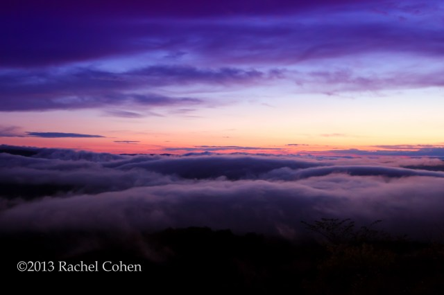 """""""Depth of Time"""" A final goodbye, an ending. The sun had set on this day, and on my father's life.  Beautiful clouds and fog moved in quickly as it got darker. I stayed there watching until I could see no more."""