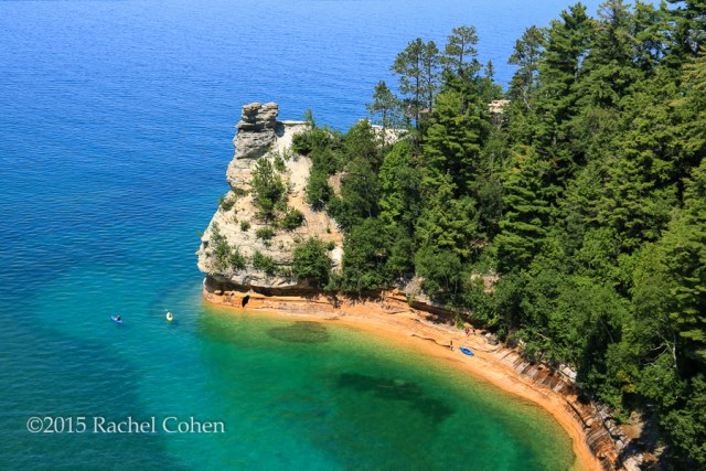 """Kayaking at Miners Falls"" Gorgeous blue waters of Lake Superior at Pictured Rocks National Lake Shore in summer!"