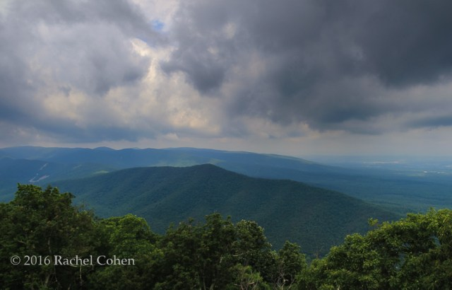 """Storm on Blue"" Gorgeous clouds in the Blue Ridge Mountains during a summer storm."