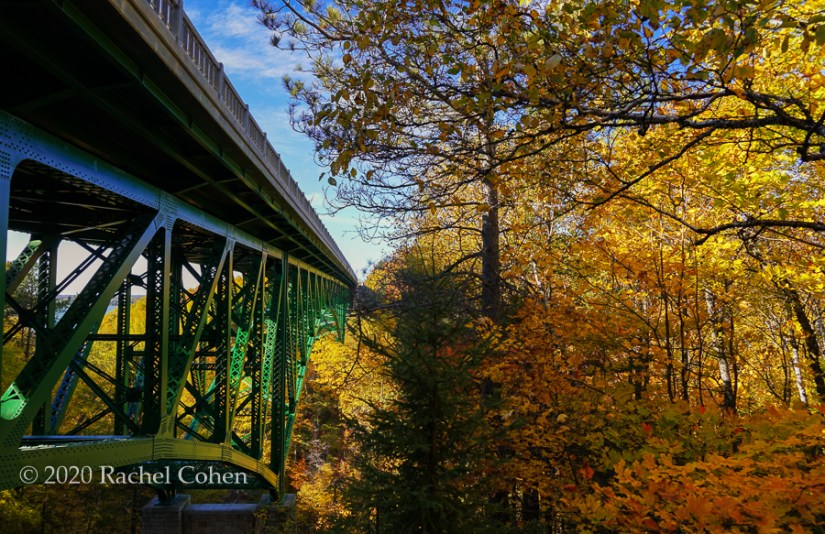 """Along Cut River Bridge""  Beautiful fall foliage down under Cut River Bridge in Michigan's Upper Peninsula!"