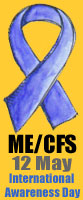 ME/CFS Awareness Ribbon - Small - Orange Background
