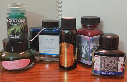 Photo of my 2017 DC Pen Show combined ink haul