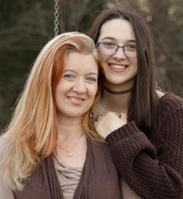 Photo of Amy M. Ward and Olivia Cayenne