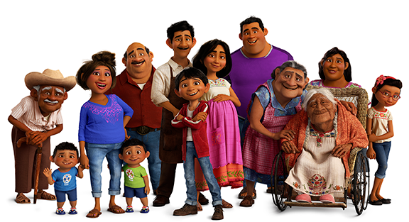 The Rivera family from Coco