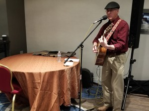 Larry Ragland playing guitar