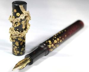 The Sequel nib in the 18111 Gold Sakura fountain pen