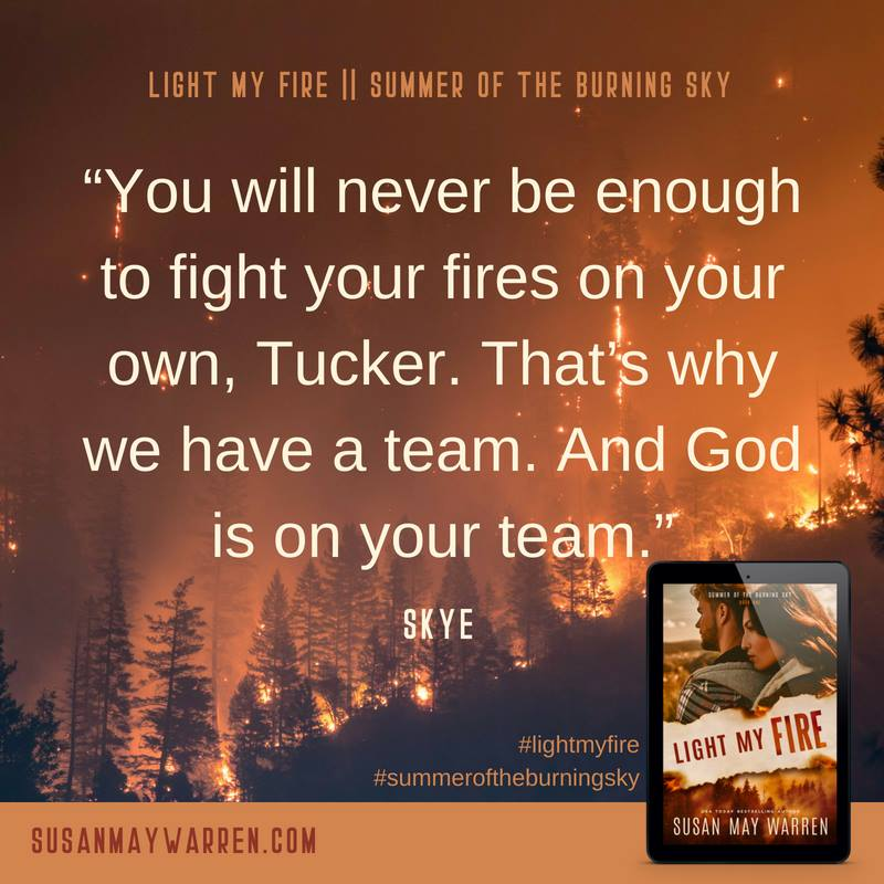 forest fire with quote