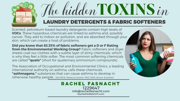 Hidden Toxins in Laundry Detergents and Fabric Softeners
