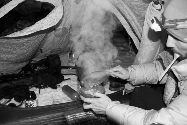 Camp cooking at the roadtrip's final destination, Grand Teton National Park, Wyoming.