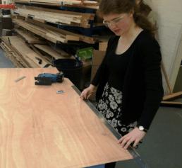 Measuring plywood