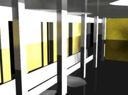 SketchUp model with render in 3Ds Max