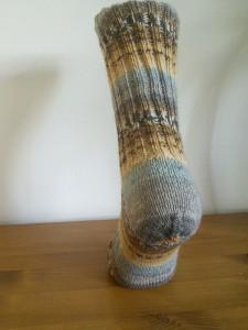 Sweet and Spicy sock with Balbriggan heel ©Rachel Gibbs