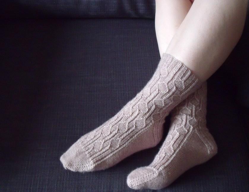 Falling Petals Socks