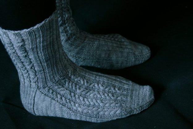Gray Code Socks side view