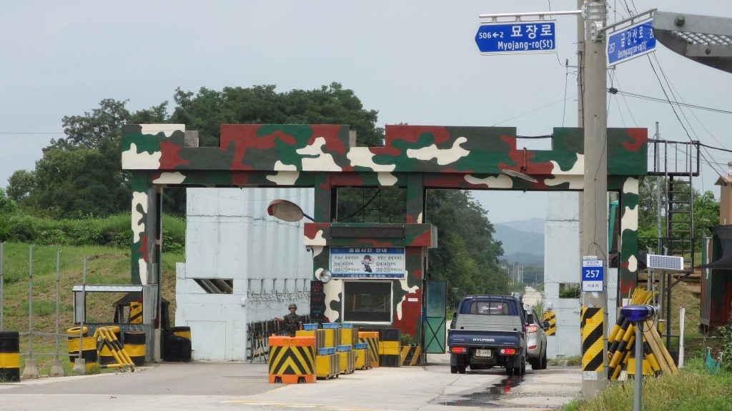 a military roadblock near the DMZ