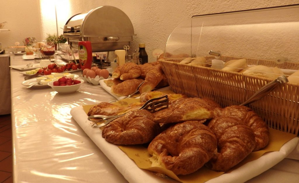 Only one part of the breakfast on offer at the Hotel Touring