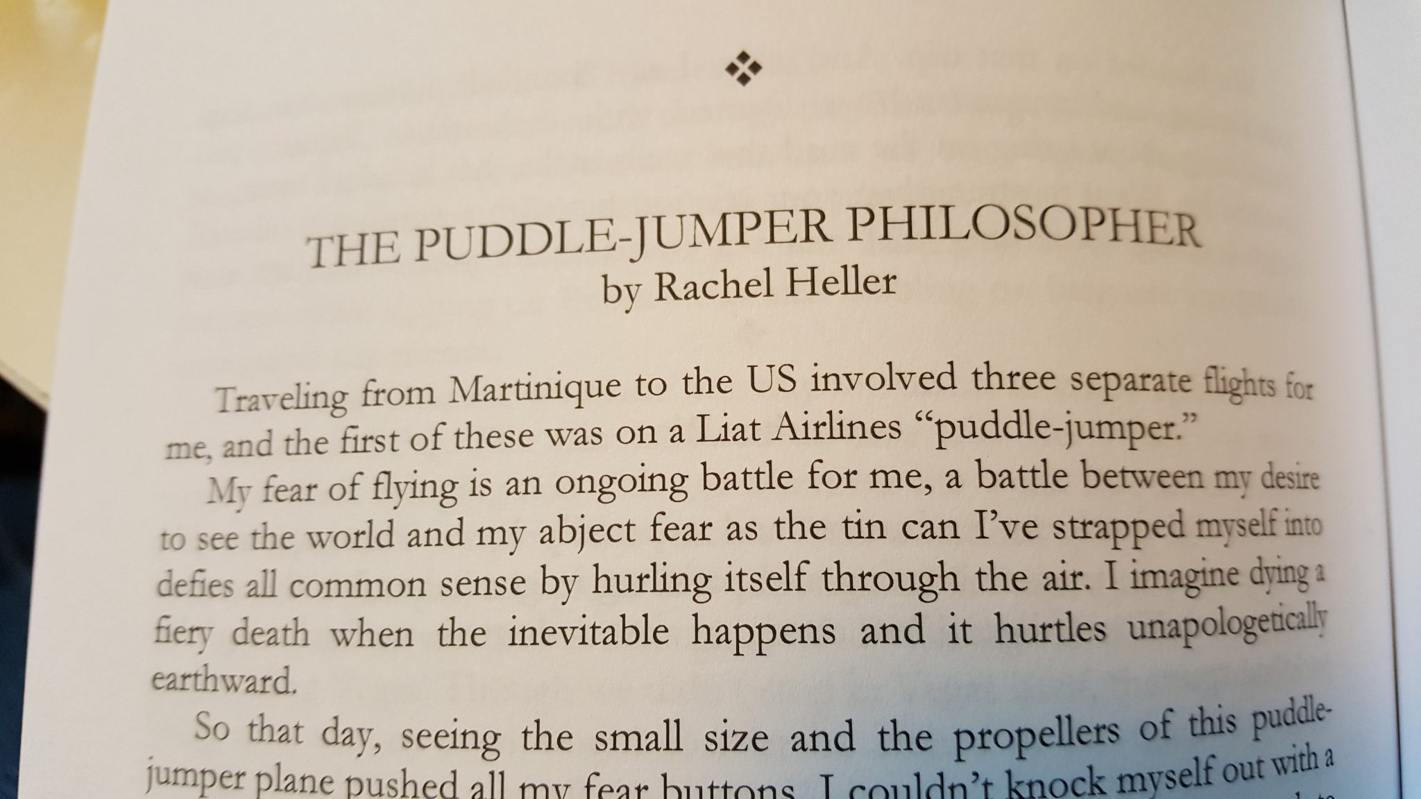 There it is! That's my story in print!