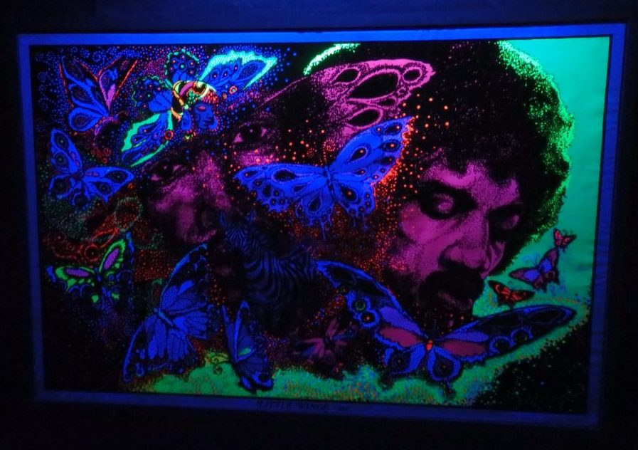 Black light poster at the Electric Ladyland in Amsterdam
