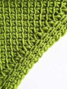 Increase with simple and reverse stitches