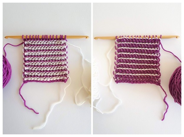 Double-ended Tunisian crochet - work flat