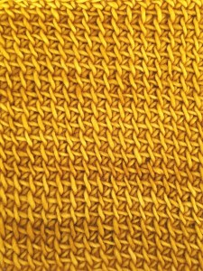 Modified Tunisian simple stitch with yarn in one solid color