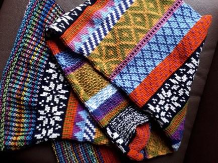 Fair Isle Tunisian crochet scarf, pattern by Hayley Joanne Robinson