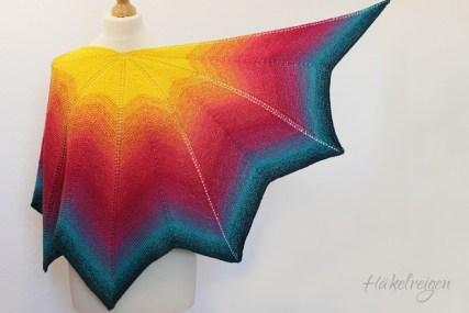 Altaira shawl, Tunisian crochet design by Silke Reibeling, Haekelreigen