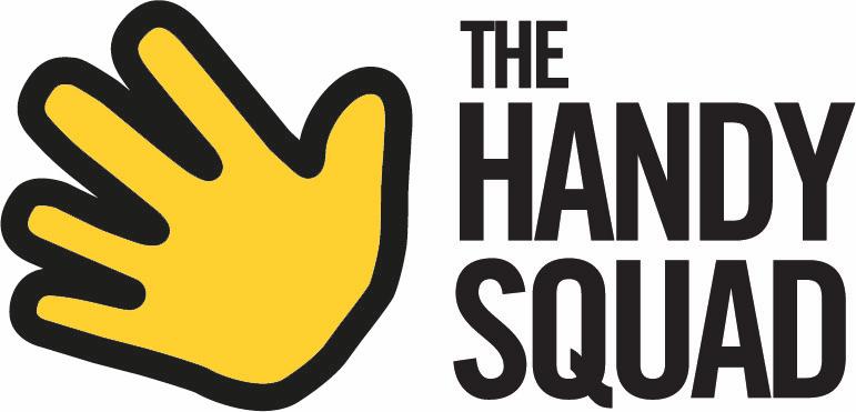 Yellow Hand The Handy Squad Logo