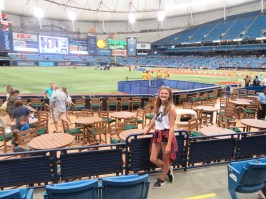 We went to Tropicana Fields in St Petersburg to see the Tampa Bay Rays vs the Yankees