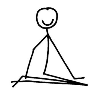 sitting left