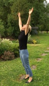Reach up high anywhere to improve your health