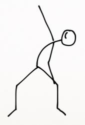 squat, back. stretch