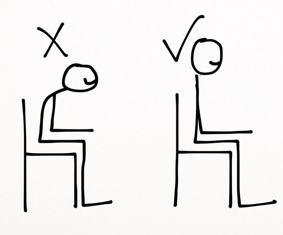 sitting correctly