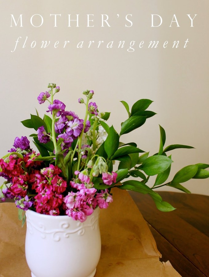 Spring Flower Arrangement How-to