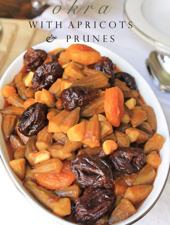 Okra with Prunes and Apricots in Tamarind Sauce