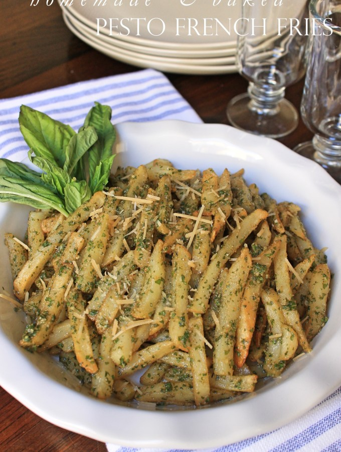 """Homemade"" Baked Pesto French Fries"